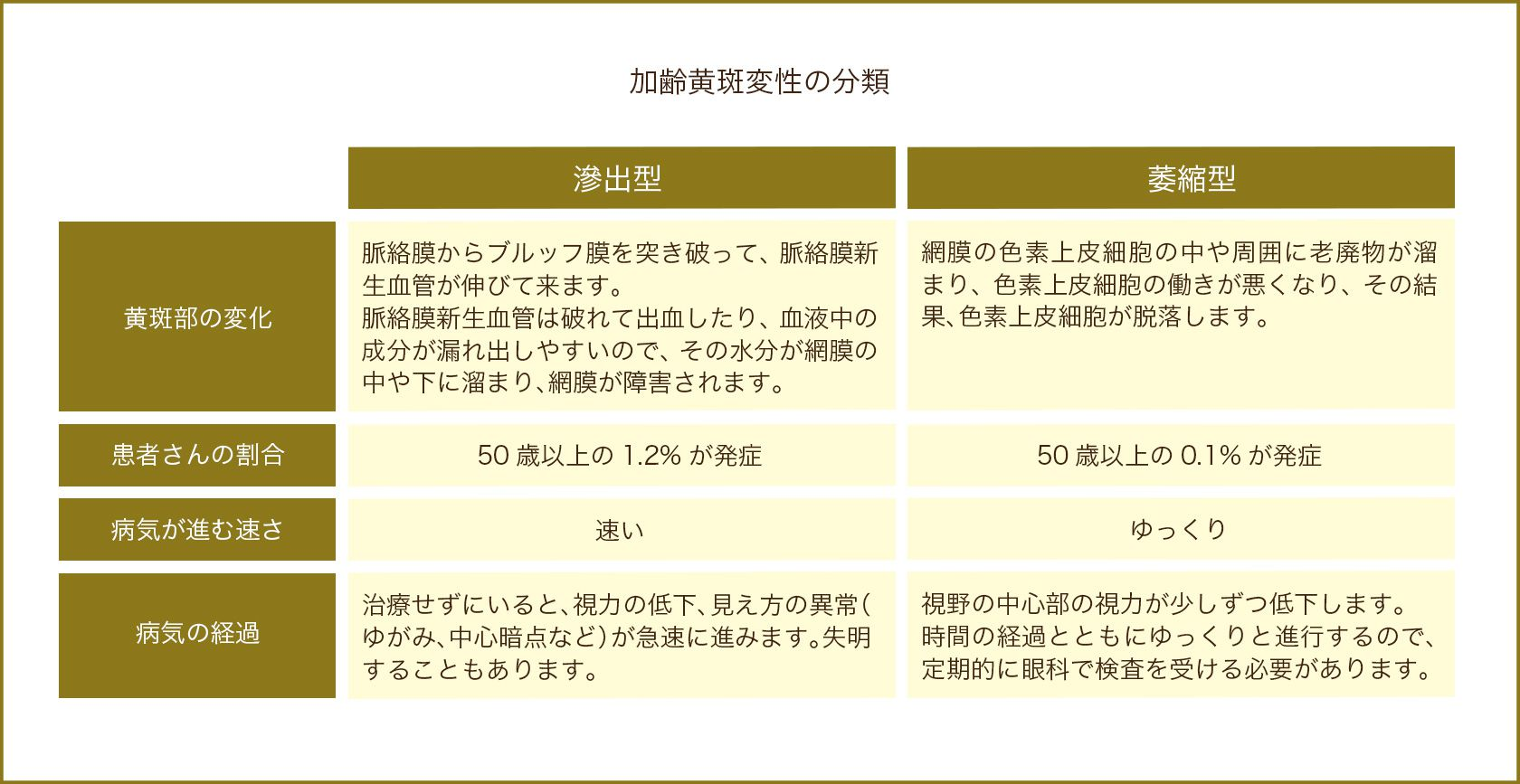 加齢黄斑変性の分類